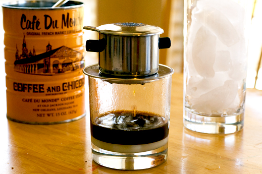 Vietnamese coffee using filter