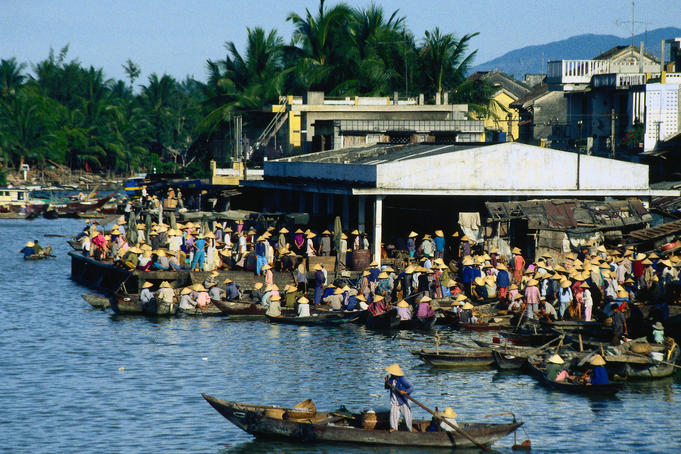 Hoi An  fish market situated on the bank of Thu Bon river, near the town centre.