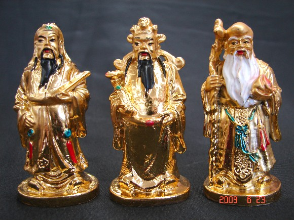 "Fu, Lu and Shou are three gods that are sometime called the ""Three Star"" with the meaning of blessings, prosperity and longevity."