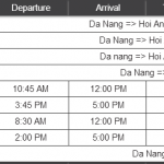 Bus Schedule from Da Nang