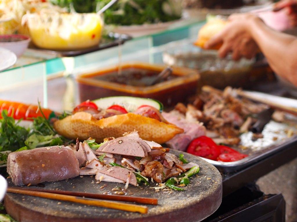 Ingredients at banh mi Phuong's